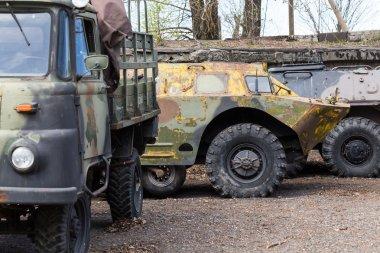Old soviet military ussr vehicles