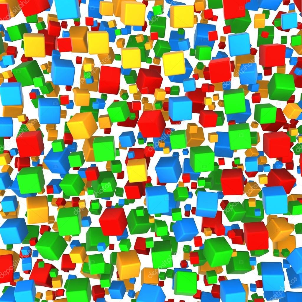 Abstract background cube colored