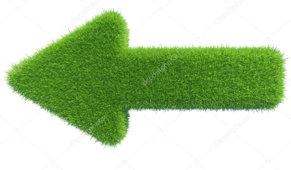 Green grass arrow