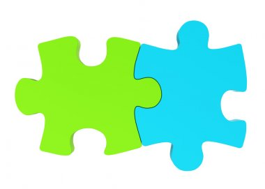 Blue and green puzzle