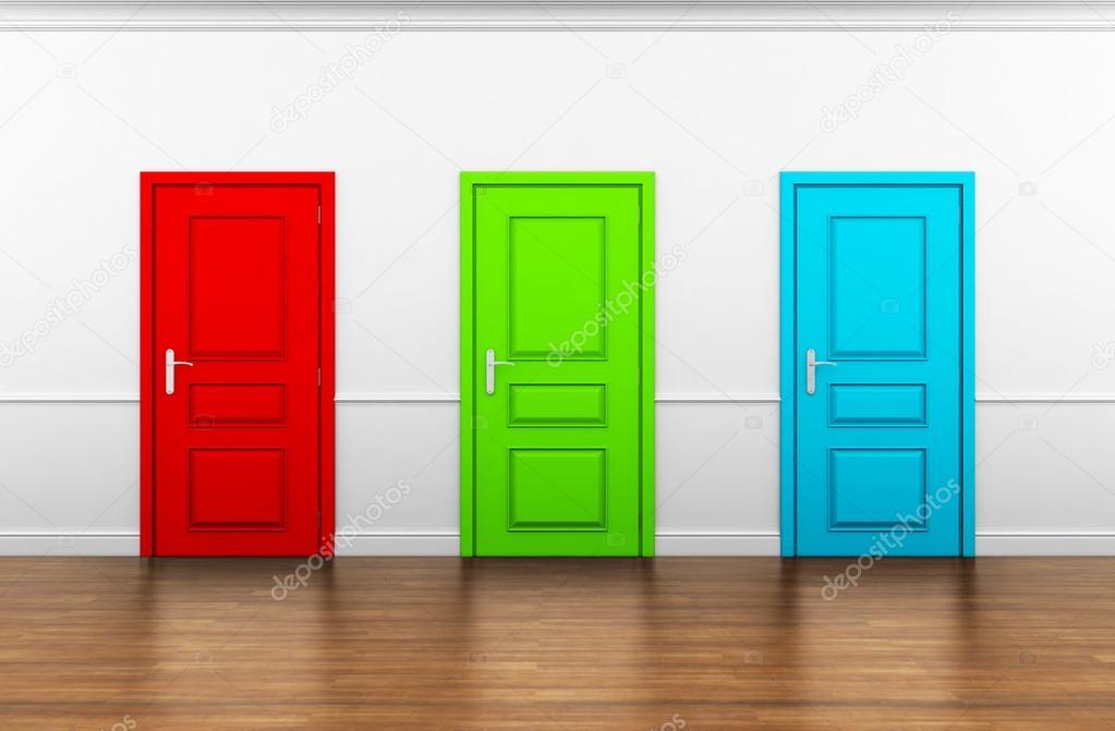 Beautiful room with three doors \u2014 Photo by mirexonlife & Beautiful room with three doors \u2014 Stock Photo © mirexonlife #22424335