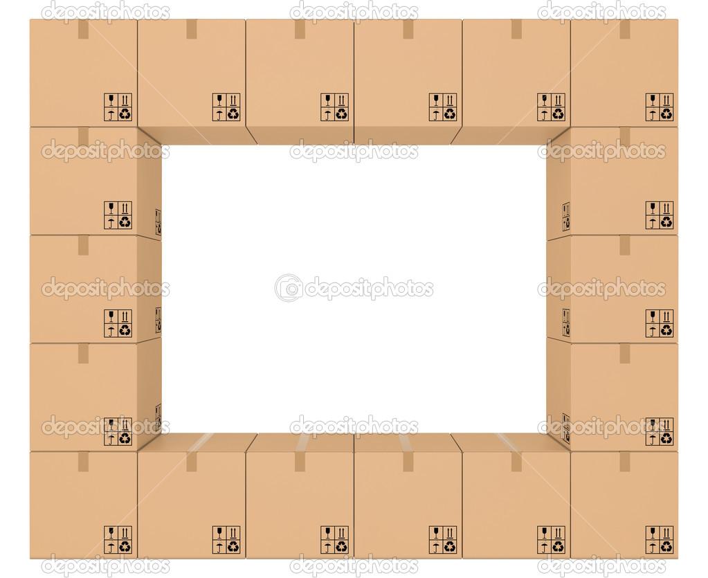 marco de cajas de cartón — Foto de stock © mirexonlife #22780666