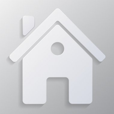 Vector real estate icon on gray background