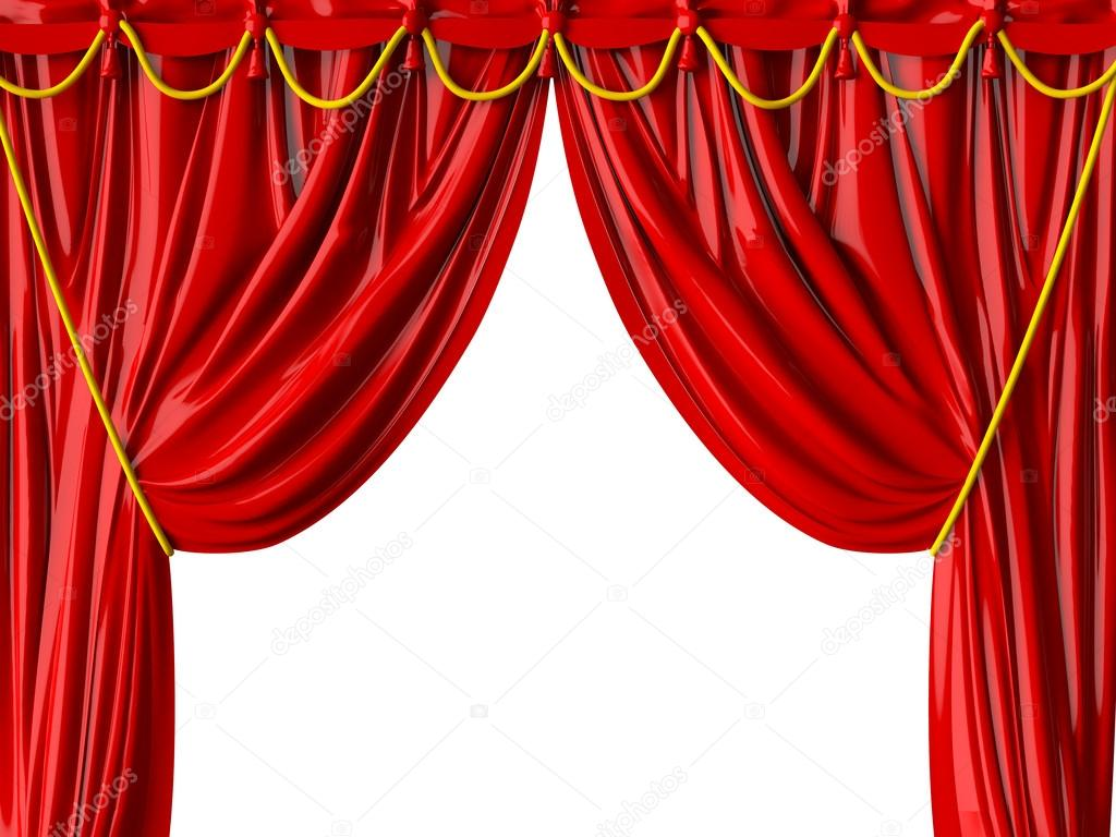 realistische theater gordijn — Stockfoto © niglaynike #30407303
