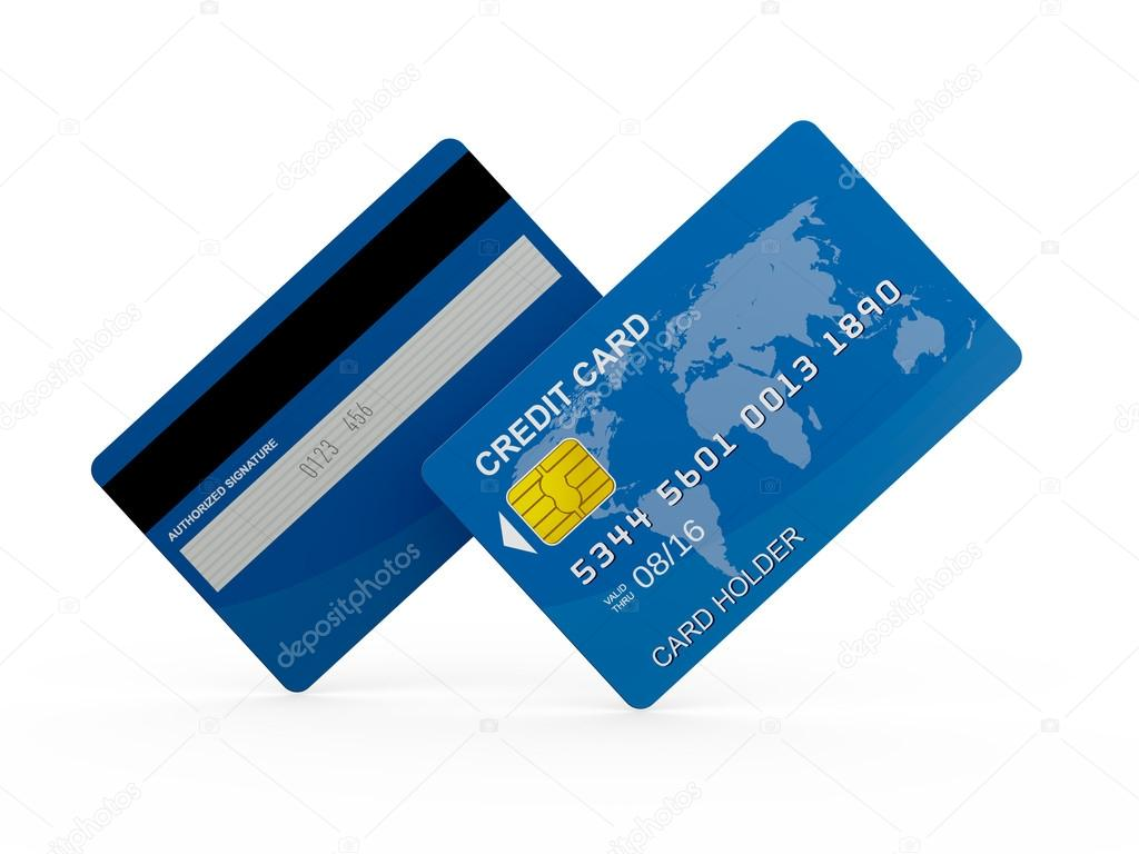 Credit Card Front And Back Stock Photo C Niglaynike 30417357