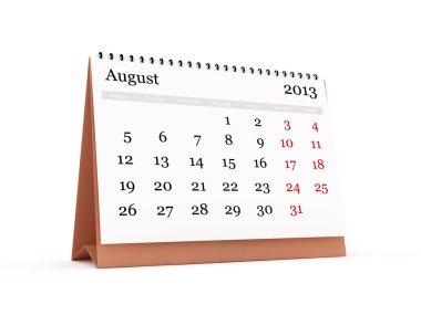 Desk Calendar, August 2013