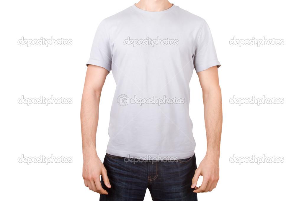 camiseta blanca a joven — Fotos de Stock © niglaynike #45141577