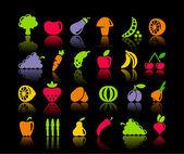 Zelenina a ovoce ikony