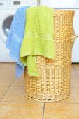Fotografie Korb mit Handtüchern