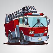 kreslený hasičský vůz