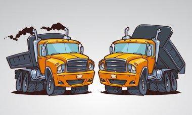 Cartoon truck tipper