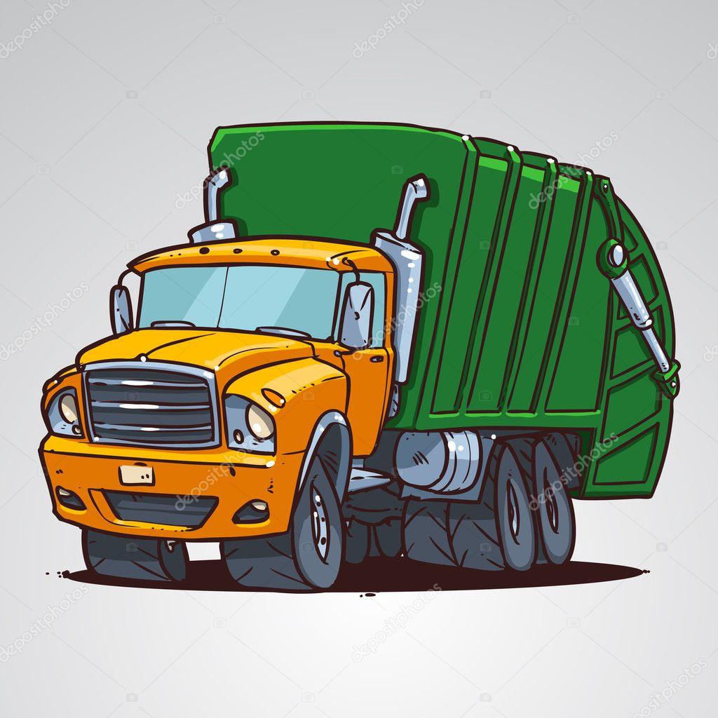 Camion Poubelle De Dessin Animé Image Vectorielle Natashin