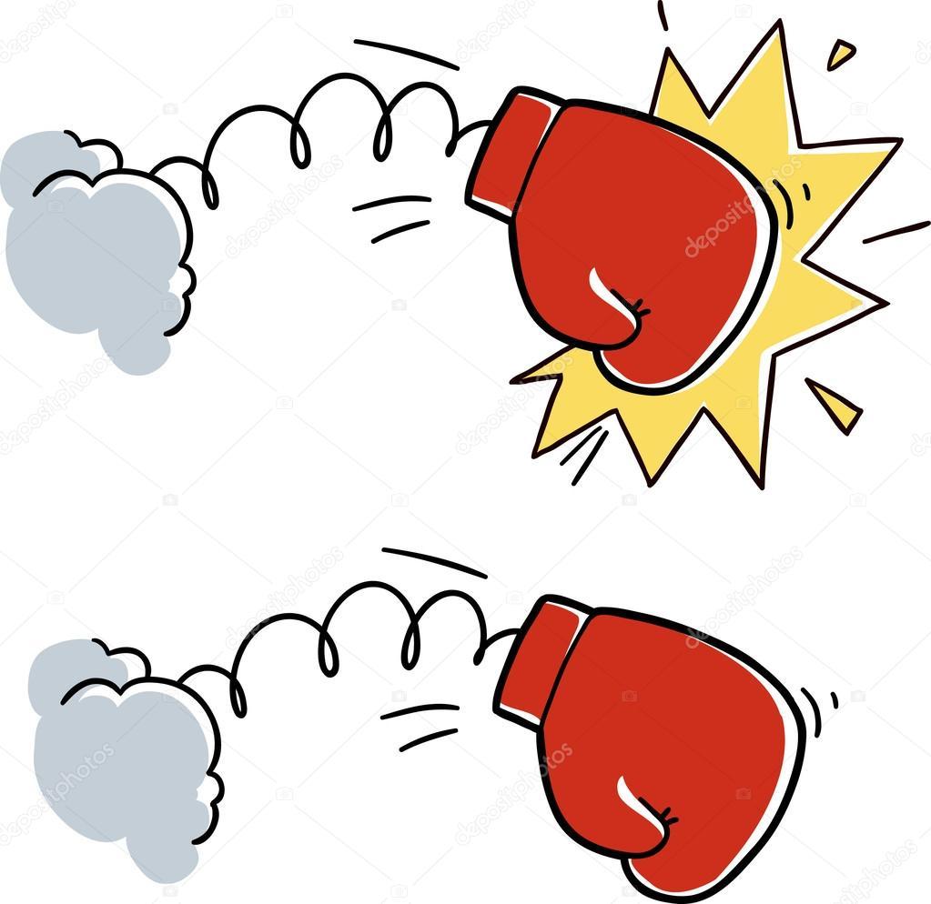 dibujos guante de boxeo dibujo dibujos animados de guantes de