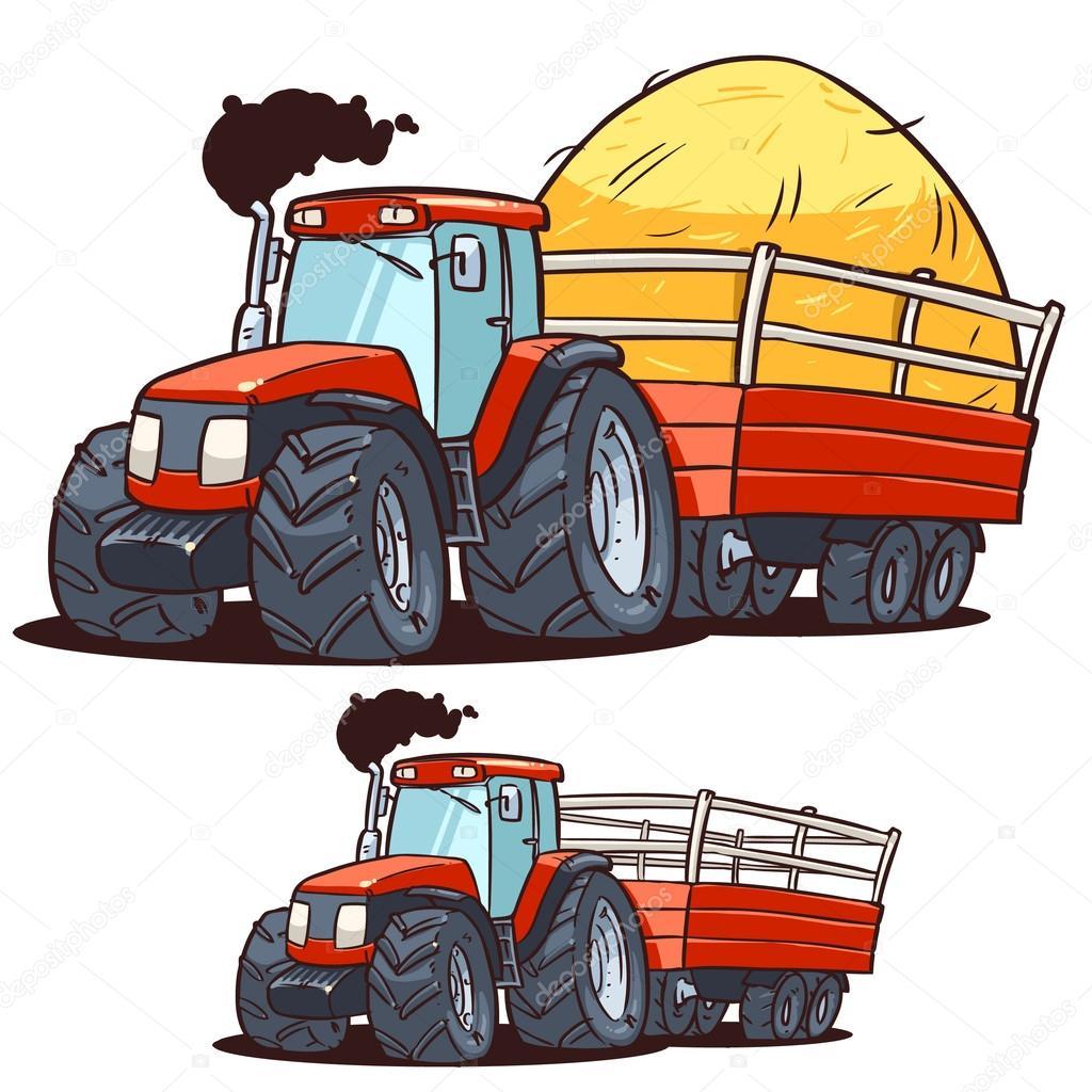 Traktor med släp — Stock Vektor © natashin #42111917