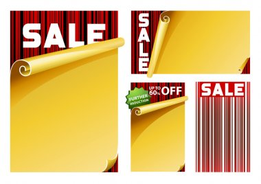 Sale sign barcode concept