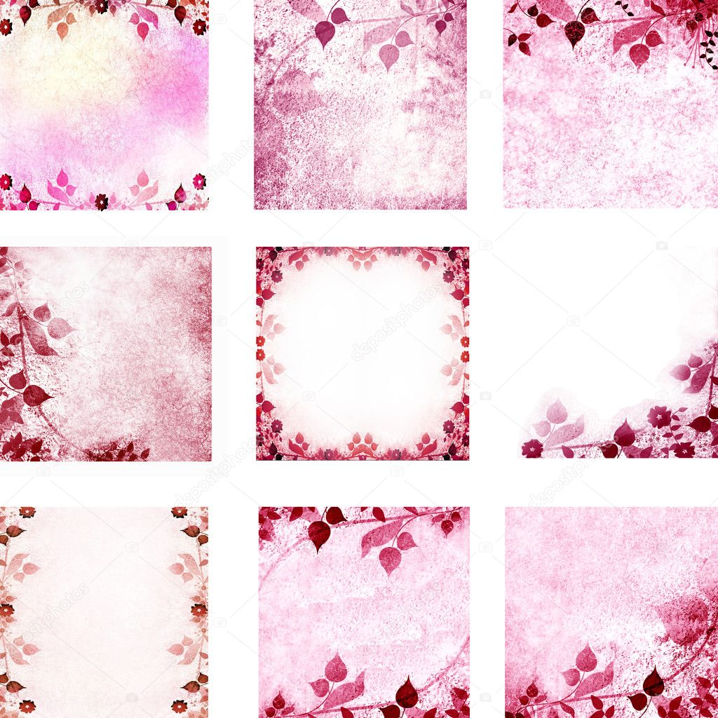 Pink floral vintage leaves and flowers backgrounds