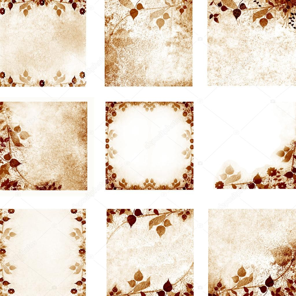 Floral vintage with old paper background
