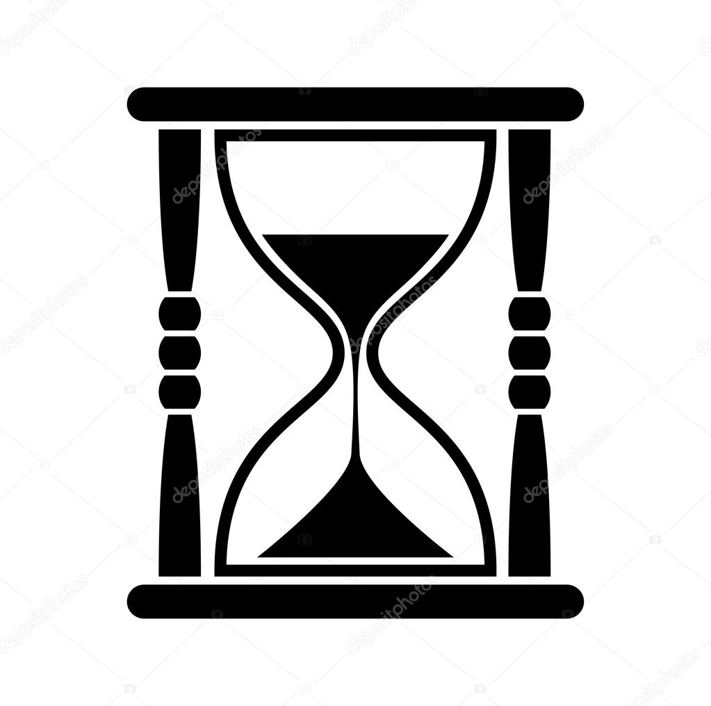 Sanduhr icon  symbol — Stockvektor #18907109