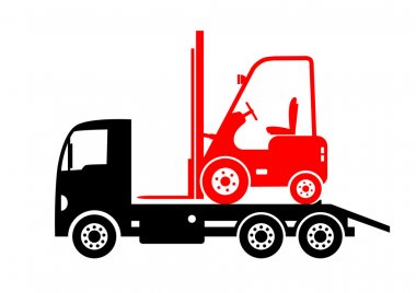 Tow truck and forklift
