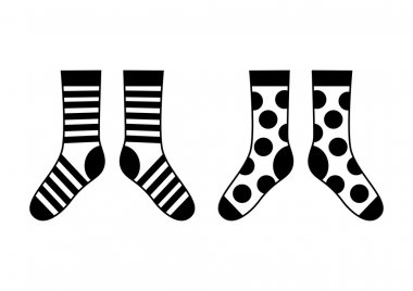 Socks on white background