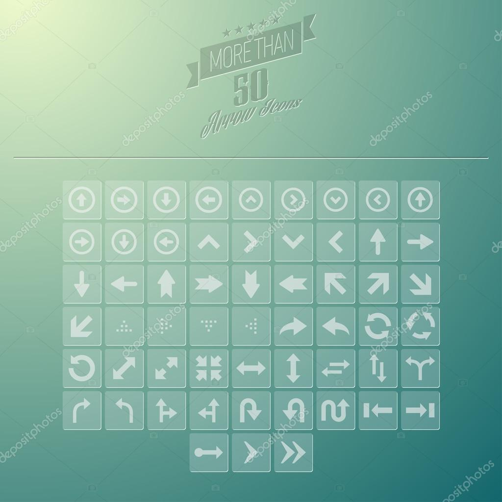 Arrow Icon Set Layered Vector Icon Set
