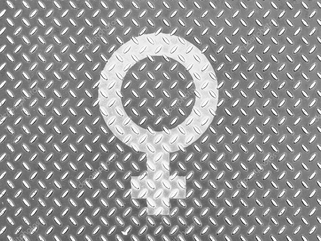 Mannliche Zeichen An Metall Boden Gezeichnet Stockfoto C Olesha