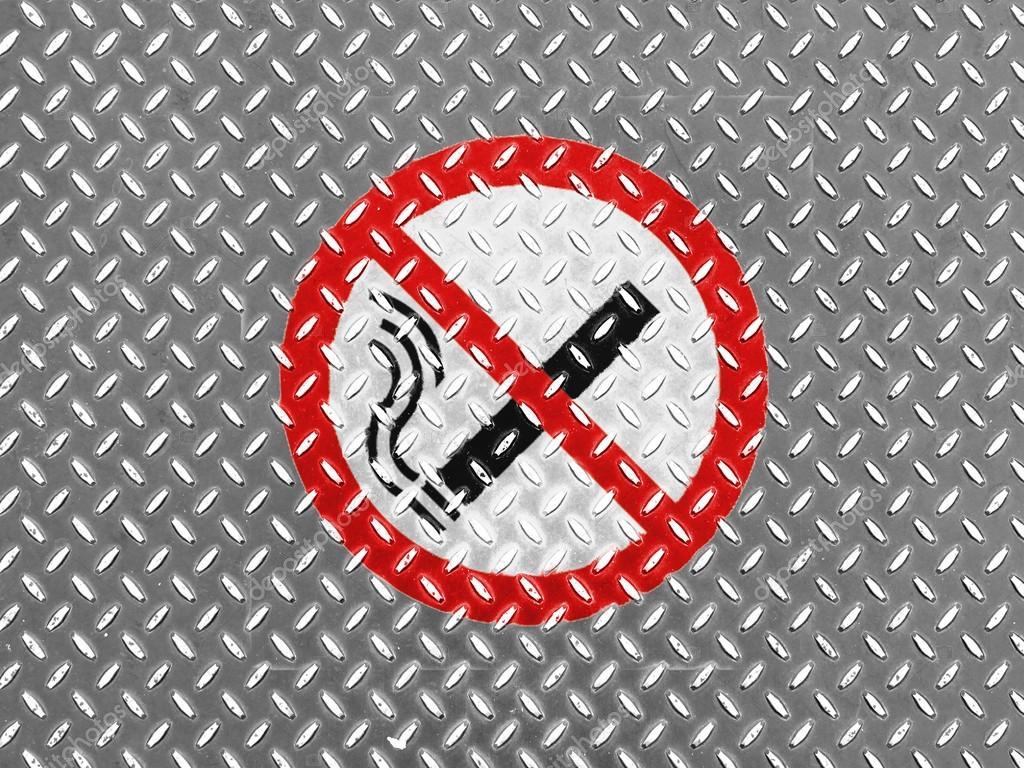Kein Rauchverbot An Metall Boden Gezeichnet Stockfoto C Olesha