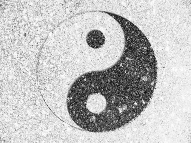 The Ying Yang sign painted on