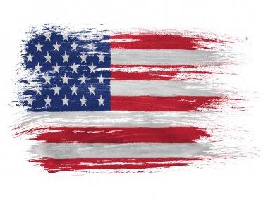 The USA flag stock vector