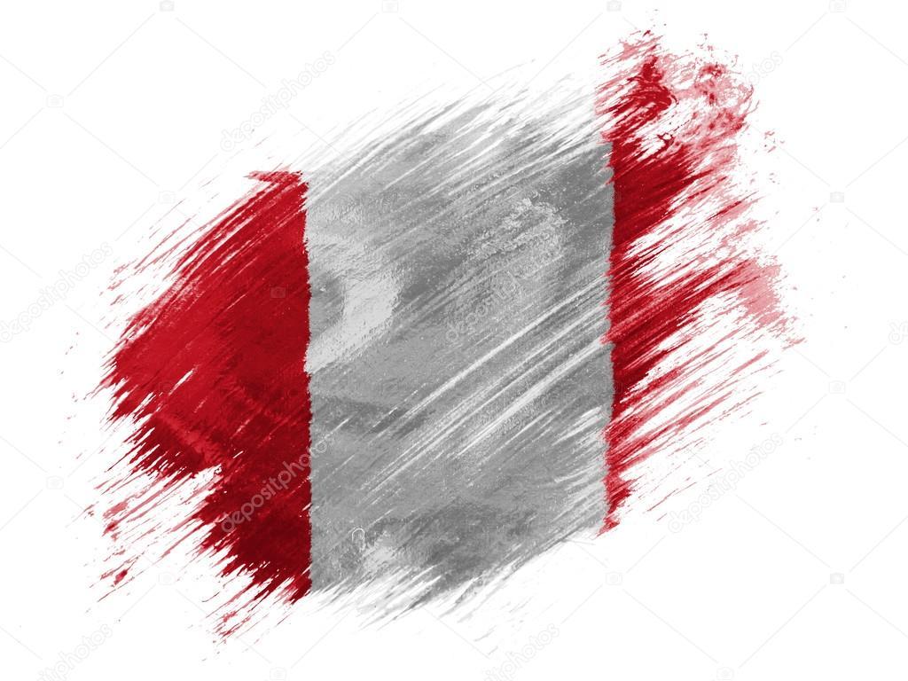 Fotos De Bandera Del Peru Pintado Con Pincel De Stock Imagenes De Bandera Del Peru Pintado Con Pincel Sin Royalties Depositphotos