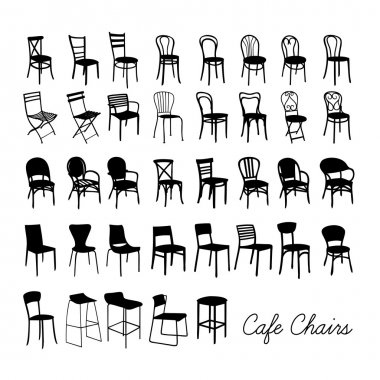 Silhouette cafe chairs