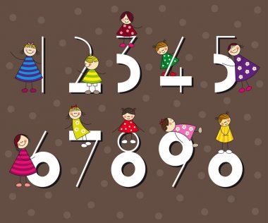 Funny number collection ideal for birthday cards