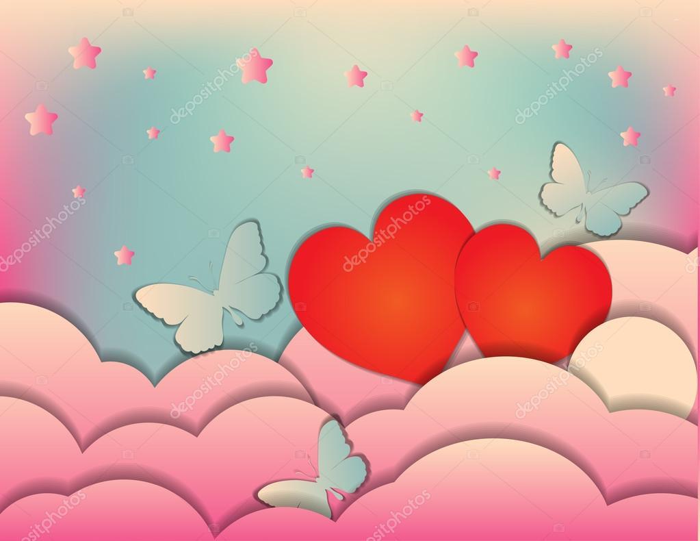 Valentine\'s day, wedding. Invitation, banner or poster design ...