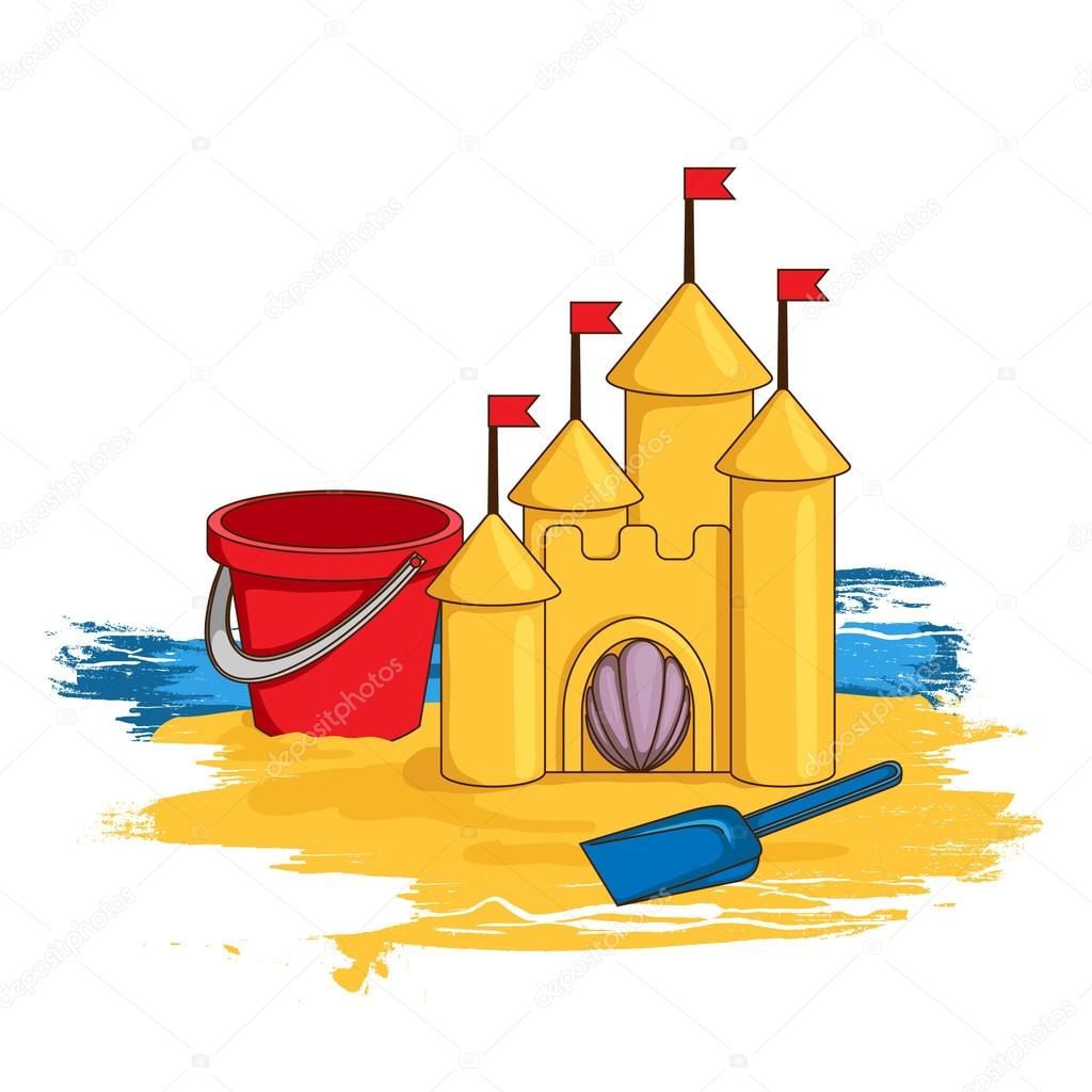 Cartoon Sand Castle Stock Vector C Blackspring1 46987771