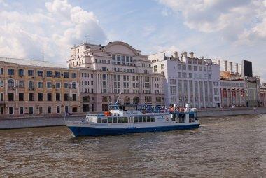 Cruise ship Prince Menshikov on the Moskva river