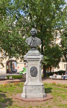 Bust of Mikhail Lomonosov (1892) in Saint Petersburg