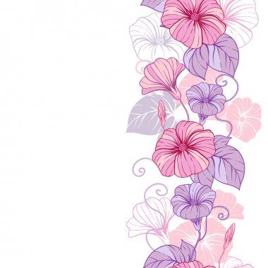 Stylish abstract floral background. Design of vector flowers.
