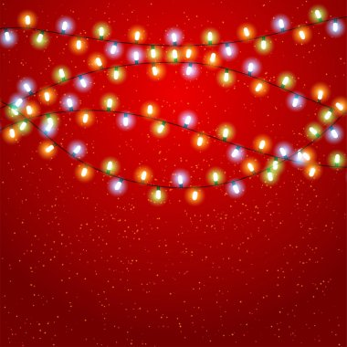 Eps 10 Christmas background with luminous garland.