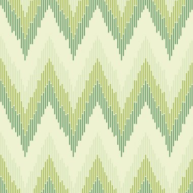 Zigzag pattern in green color. Seamless texture.