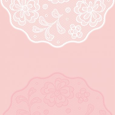 Vintage lace background ornamental flowers, invitation card.