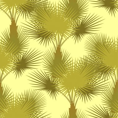 Vector seamless pattern of palm trees.