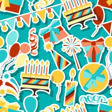 Happy Birthday party seamless pattern.
