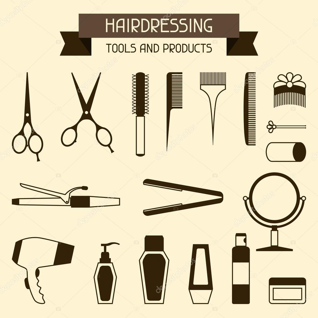 Hairdressing tools and products.