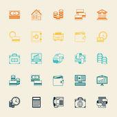 Fényképek üzleti és banki ikonok