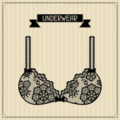 Underwear. Vintage lace background, floral ornament.