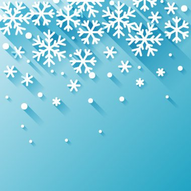 Abstract background with snowflakes in flat design style. stock vector