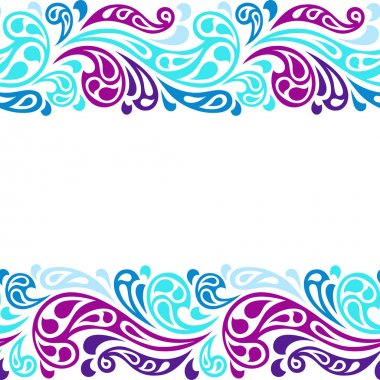 Water splash seamless waves abstract pattern.