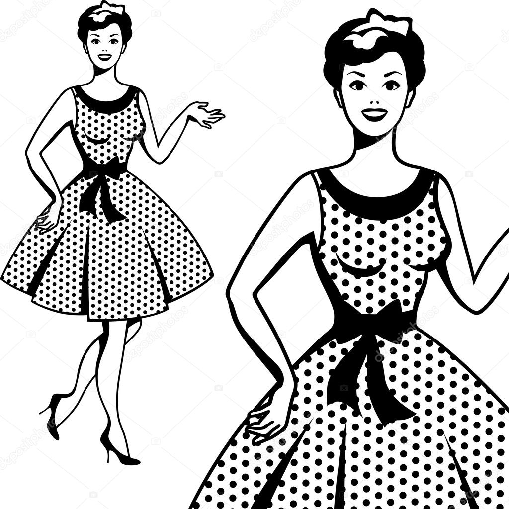 beautiful retro girl in pop art style stock vector in ible 1940 Style Clothing beautiful retro girl in pop art style stock vector
