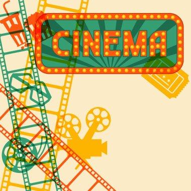 Movie and cinema retro background.