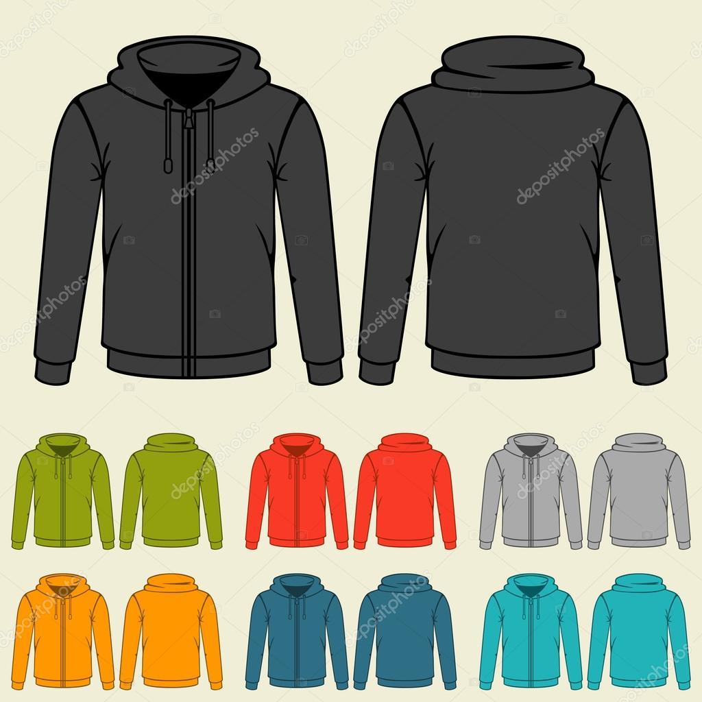 4ca1997e254 Sada šablon barevné mikiny pro muže — Stock Vektor © incomible  43897109